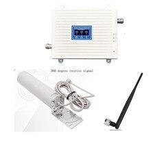 هاتف محمول networ الداعم ثلاثي الفرقة إشارة الاتصالات مكرر GSM 2G 3G 4G الخلوية مكبر صوت أحادي 900 1800 2100 mhz مجموعة