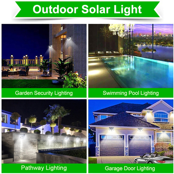 Goodland 100 LED Solar Light Outdoor Solar Lamp Powered Sunlight Waterproof PIR Motion Sensor Street Light for Garden Decoration 6