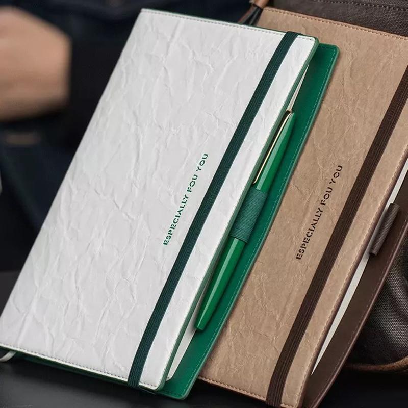 a5 literatura delicada e arte caderno de negocios de alta qualidade escritorio dobra textura bandagem agenda