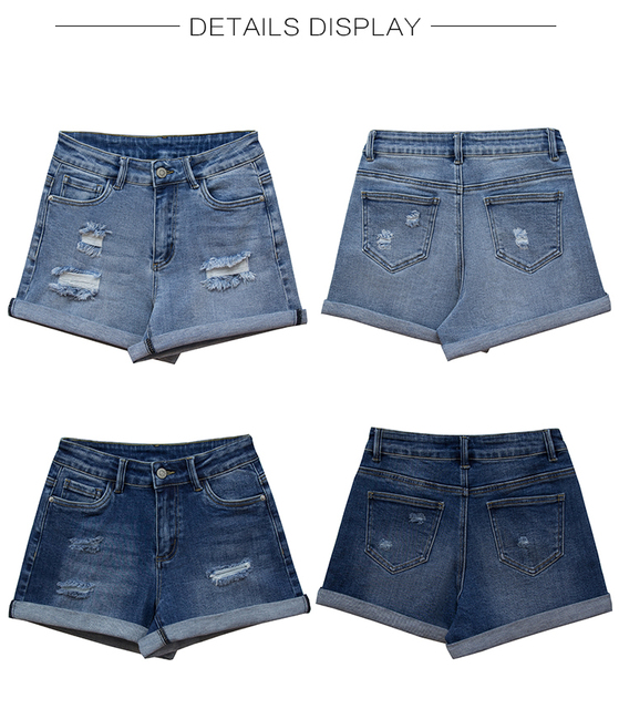 Ripped Denim Shorts in two colors