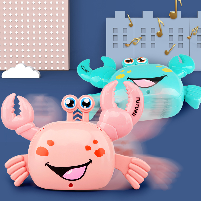 The Simulation Will Not Fall Crabs Crawling Baby Toys Luminous Electric Toy Animals Music Stunt Boys AND Girls Gifts
