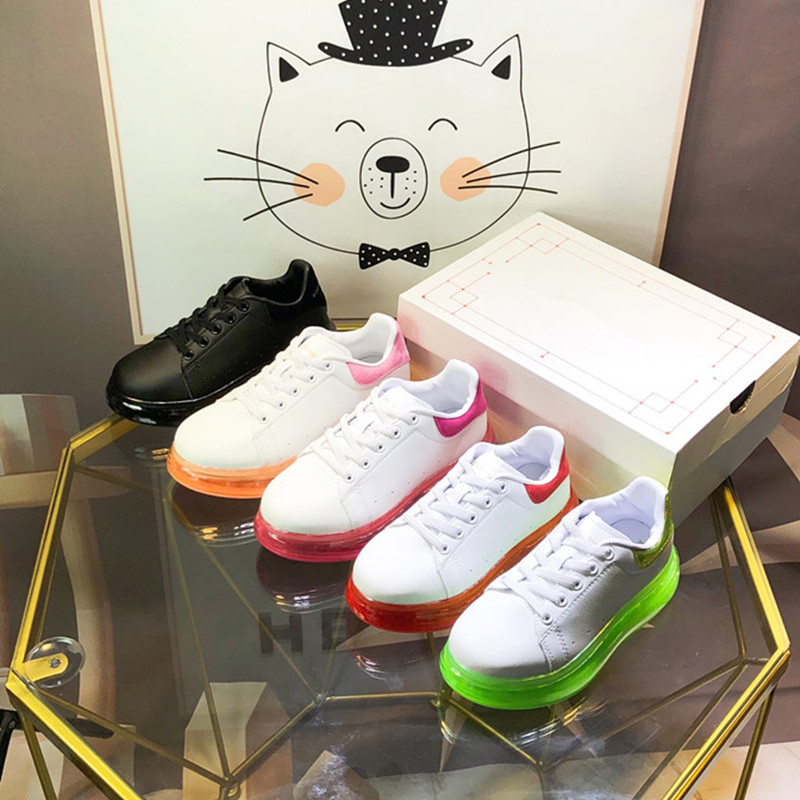 Boy's And Girls' White Shoes Kids Brand Shoes