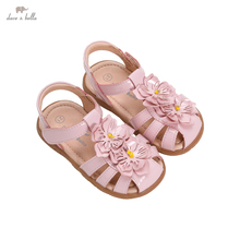 DB16517 Dave Bella summer fashion baby girls floral sandals new born infant shoes girl sandals cute shoes