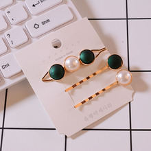 New 3pcs/1Set Korea Vintage Imitiation Pearl Hairpins Fashion Hair Accessories simple Button Clips
