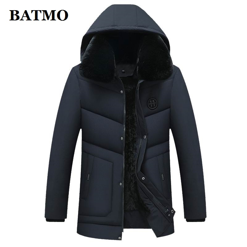 BATMO 2019 new arrival winter high quality hooded   parkas   men,men's hooded jackets men,2700