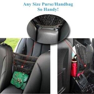 Image 4 - Benoo 2 camada 3 camada de malha do carro organizador assento de volta saco de rede barreira de banco de trás pet crianças carga tecido bolsa titular motorista armazenamento