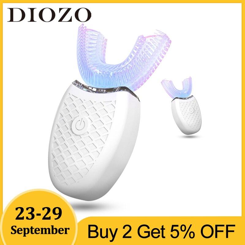 Brosse à dents électrique sonique automatique 360 degrés Silicone brosse à dents USB Rechargeable dents nettoyant lumière bleue blanchiment des dents