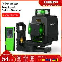 Clubiona CE certifié ligne Laser 3D niveau 360 ligne Laser à diode Laser allemande horizontale et verticale avec récepteur Laser