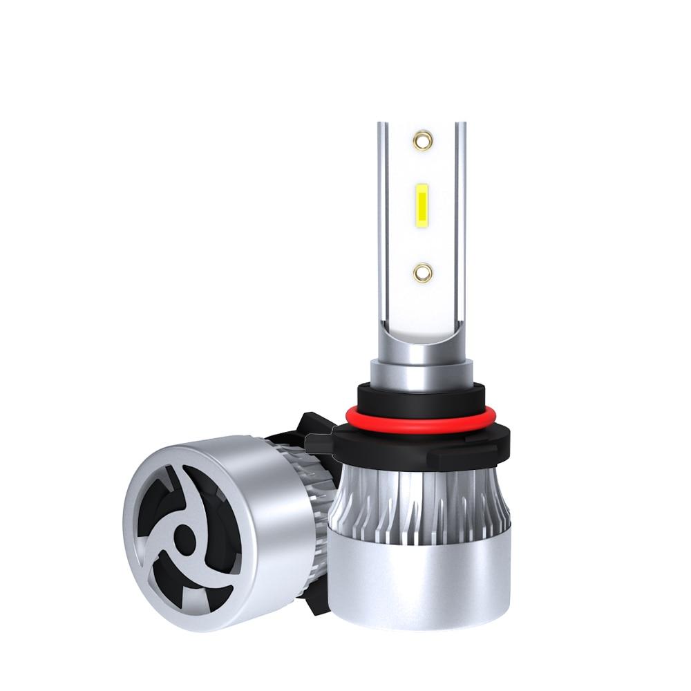 1902 Car Headlight Bulb LED COB  H1 H4 H7 H11 9005 9006  60W 6000LM 6000K White Color Bright Auto Car Light Lamp