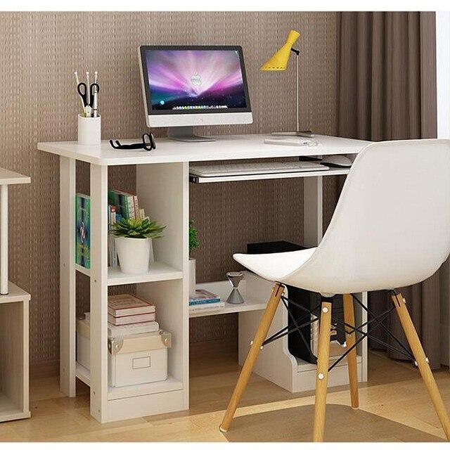 Home Computer Desk w/ Storage Shelves  2