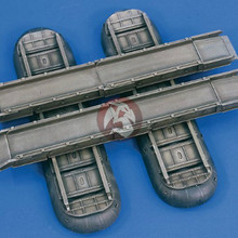 1:35 Scale Resin Die-casting World War II American Resin Inflatable Boat Pontoon Contains Two Kayaks 35790