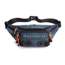 2020 new men's chest bag outdoor sports running waist bag street simple and versatile waterproof large capacity messenger bag