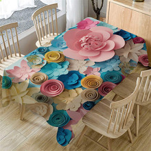 Tablecloth 3d Flower Home-Decor Birthday-Party Kitchen Manteles Rectangular Dining-Wedding