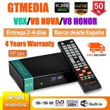 DVB-S2 gtmedia v8x v8 receptor de tv satélite honra built-in wi-fi h.265 mesmo freesat v9 super atualização gtmedia v8 nova receptor