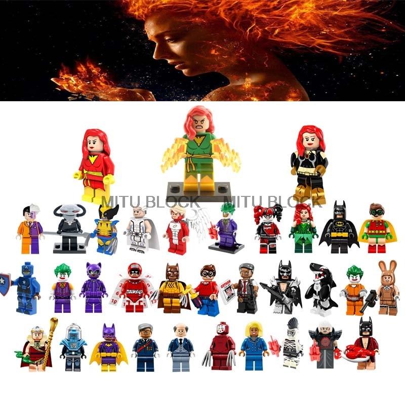 Marvel Wolverine Jean Grey Summers Action Figures Robin Deadpool X-Men Super Hero Classic Building Blocks Toys