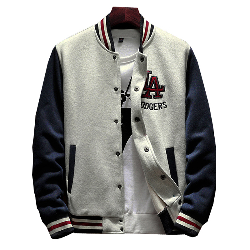 2019 New Arrival Preppy Style Short Cotton Embroidery Logo Single Breasted Casual Bomber Baseball Jacket Loose Cardigan Coat