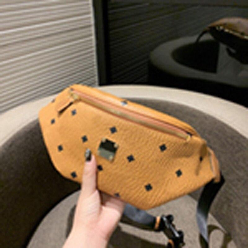 2020 New Leather Belt Bag Multi-function Small Bag Salesman Bag Oblique Fashion Casual Bag Chest Bag Hip Bag Small Wallet