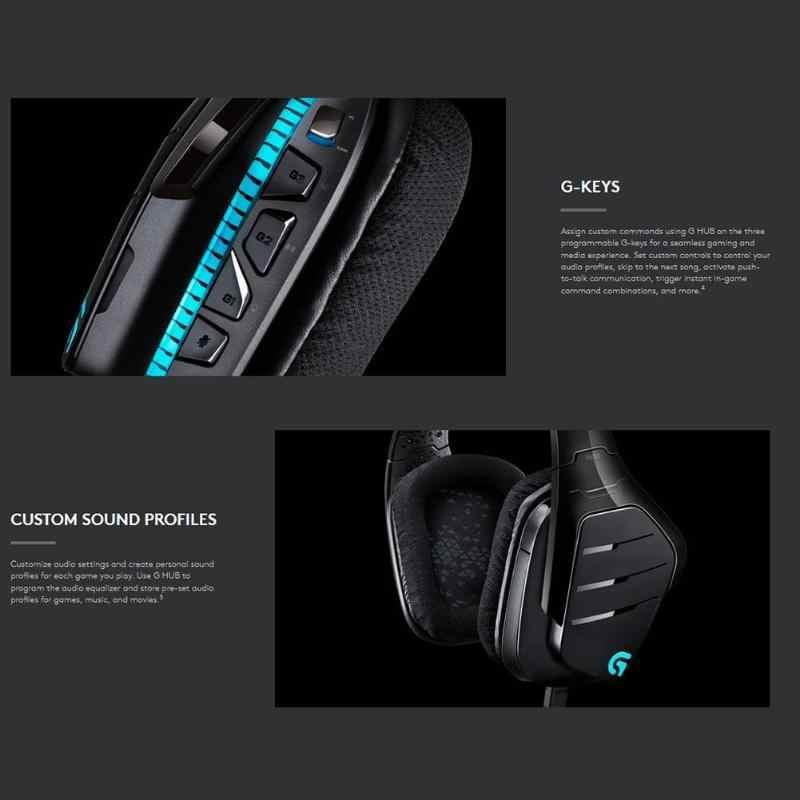 Logitech G633 ARTEMIS SPECTRUM Беспроводной RGB наушников X 7,1 объемный звук Игровая гарнитура для ПК/PS4/Xbox One/Xbox/переключатель