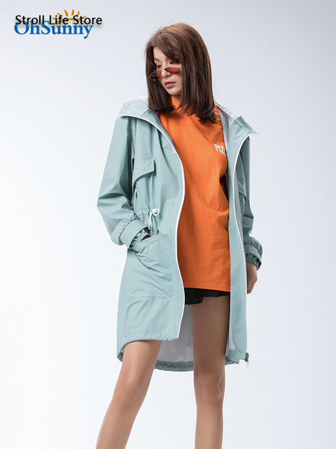 Adult Long Raincoat Rain Jacket Waterproof Outdoor Hiking Blue Rain Poncho Women Jacket Windbreaker Manteau Femme Gift Ideas 3