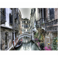 WEEN Venice town-DIY Painting By Numbers, Acrylic Paint, Canvas For Wall Decoration Picture, Paint Numbers