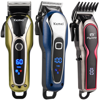 Professional Barber Hair Clipper Men Rechargeable Powerful Hair Trimmer Haircut Electric LCD Hair Cutting Machine Adults Kids 49 men rechargeable electric hair clipper professional haircut trimmer hairdressing salon barber cutting machine haircutting tool