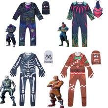 Косплей Хэллоуин Детский костюм Череп Рыцарь имбирь человек