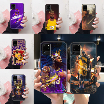 Basketball King 23 James Phone case For Samsung Galaxy Note 4 8 9 10 20 S3 S5 S8 S9 S10 S20 Plus UITRA Ultra black pretty image