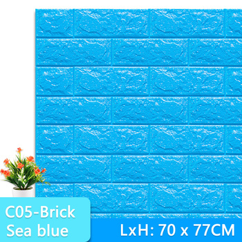 3D Wall Stickers Marble Brick Peel and Self-Adhesive Wall paper Waterproof DIY Kitchen Bathroom Home Wall Decal Sticker Vinyl 8