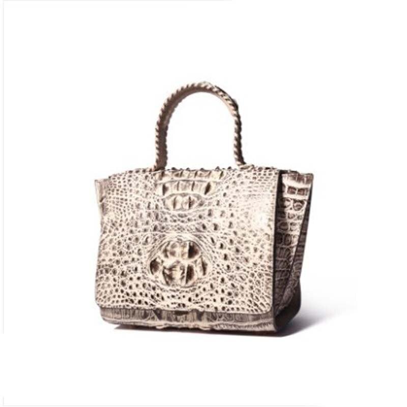 yuanyu new crocodile skin lady bag leather import crocodile leather handbag  shoulder bag import women handbag