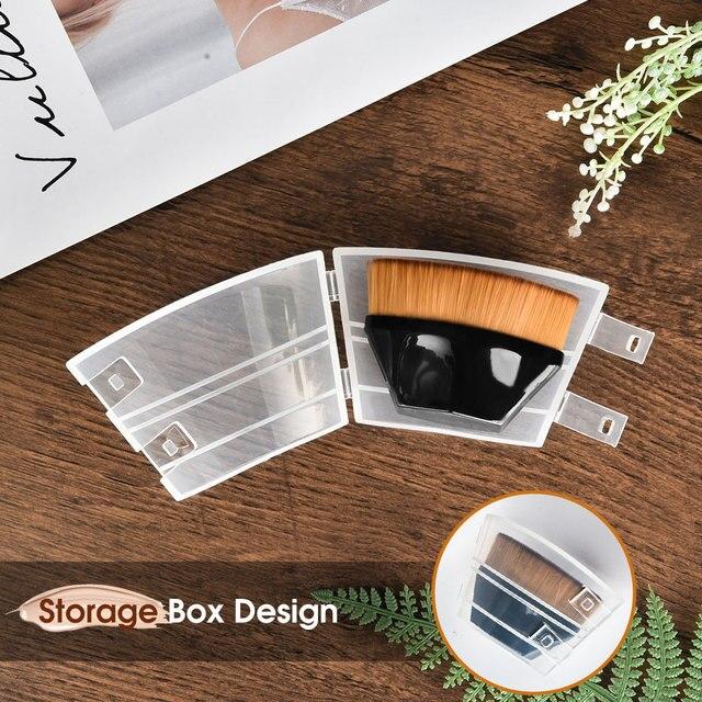 Pincéis de maquiagem fundação escova bb creme solto em pó plana kit conjunto feminino compõem a ferramenta cosméticos beleza 5