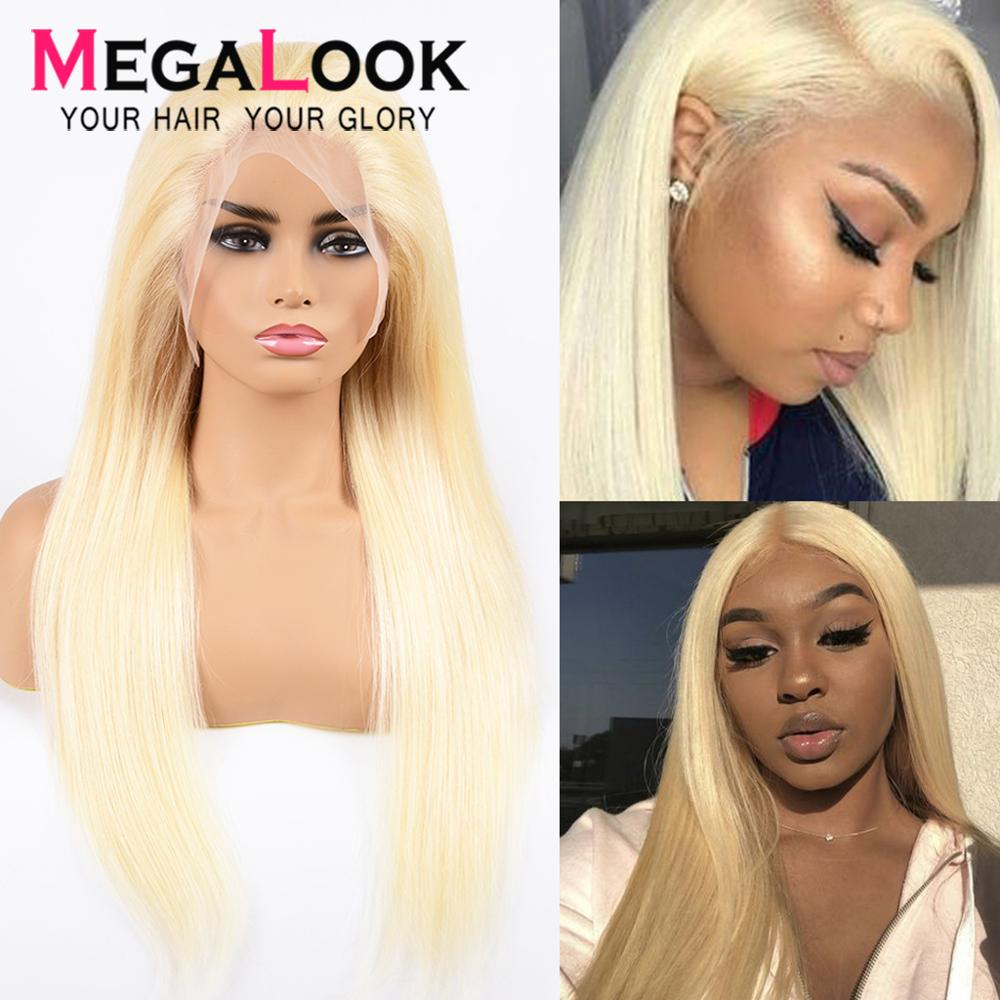 #613 Honey Blond Lace Front Wig  Straight Human Hair Wig Pre Plucked With Baby Hair 10-30 Inch 613 Wig Remy Hair 180
