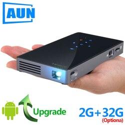 AUN MINI Projetor D5S, o Android 7.1 (Opcional 2G + 32G) WI-FI, bateria 5000 mAH, Portátil LEVOU Projetor para Vídeo 1080 P, 3D beamer