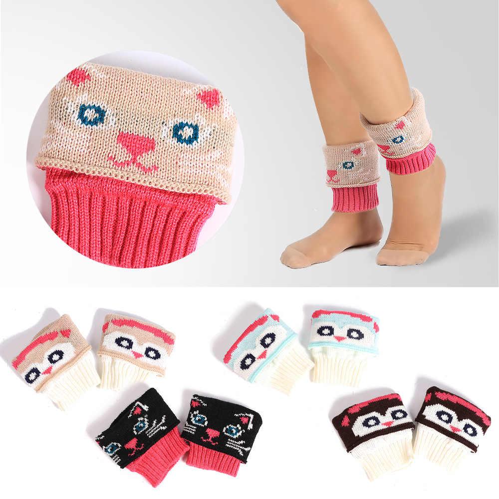 New Style AliExpress Cartoon Short Foot Sock Knit Yarn Boot Cover Mixed Colors Short Booties Socks