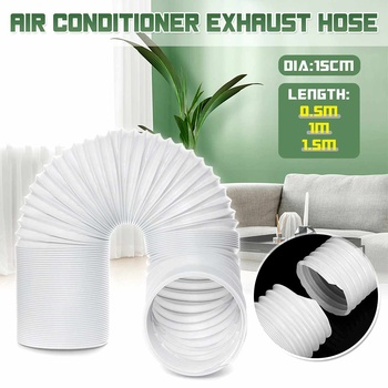 2m/3m/4m Flexible Air Conditioner Exhaust Hose Vent Tube Pipe 150mm Diameter Duct Extension Pipe Air Conditioner Accessories