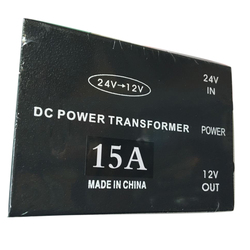 Trwały moduł praktyczny zasilacz transformator 15A konwerter inwerter Metal Step Down samochód 24V do 12V czarna ochrona na