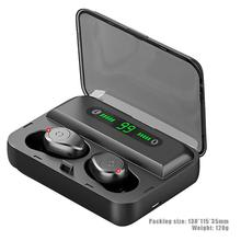 F9-5 TWS Wireless Bluetooth 5.0 Earphones Invisible Earbuds Stereo watch LED Noise Cancelling Headset IPX7 Waterproof for IPHONE