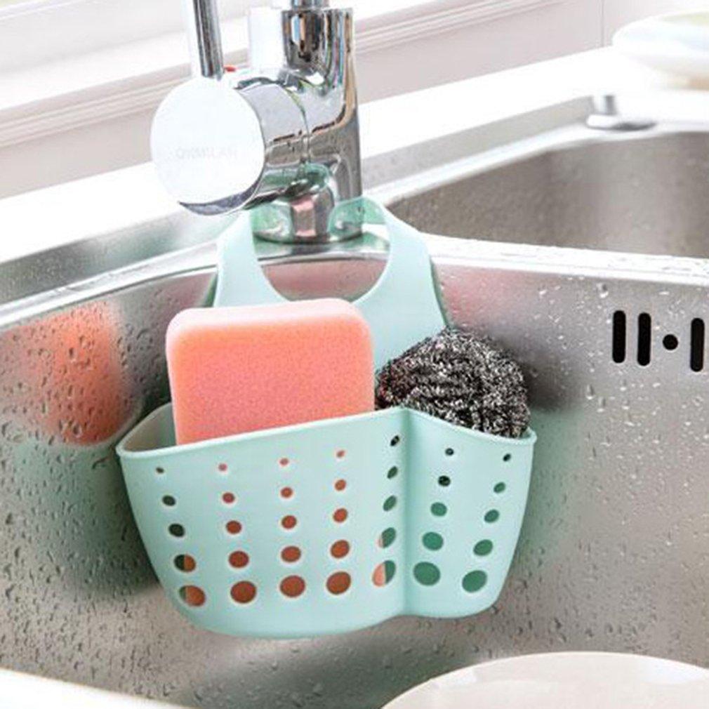 Sink Shelf Soap Sponge Rack Kitchen Drain Holder Sink Holder Kitchen Portable Hanging Bag Basket Household Kitchen Storage Racks