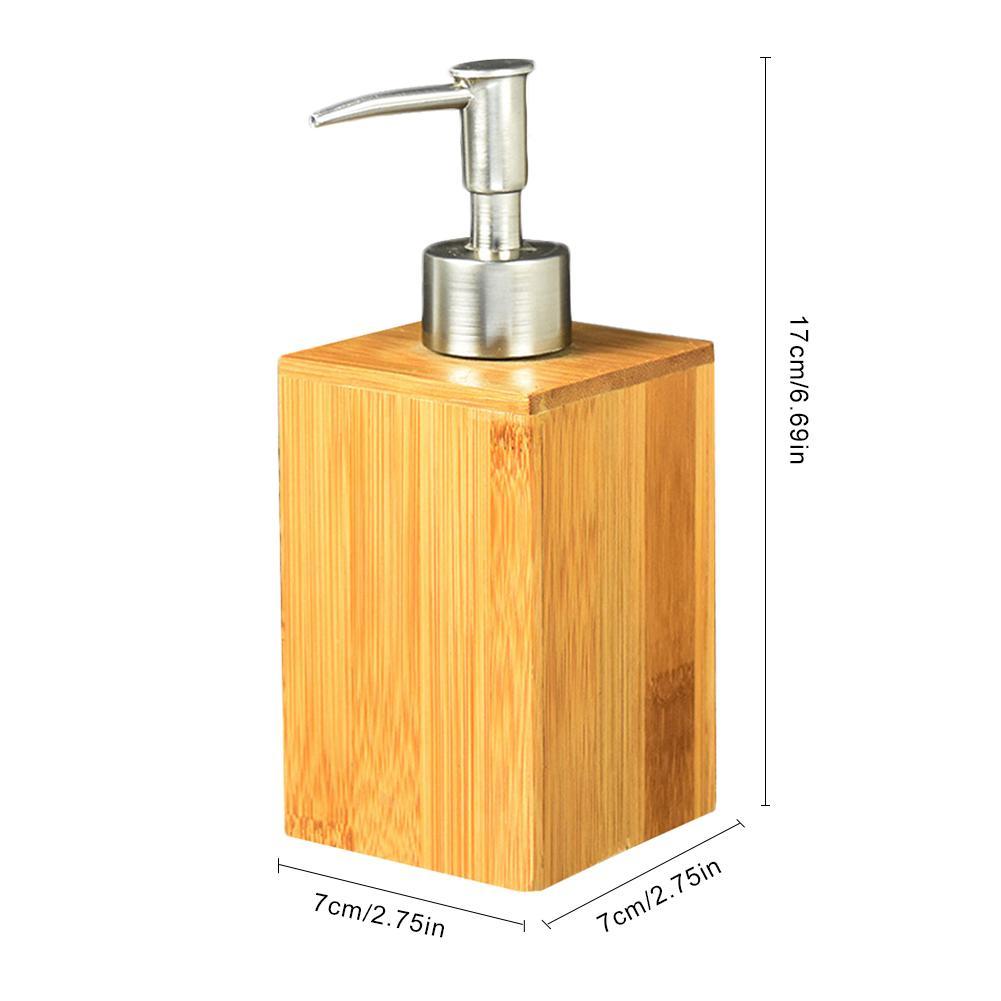 Home Bathroom Liquid Soap Dispenser Hand Sanitizer Bamboo Bottle Restaurant Hotel Lotion Tank Press Shower Gel Hand Soap Bottle