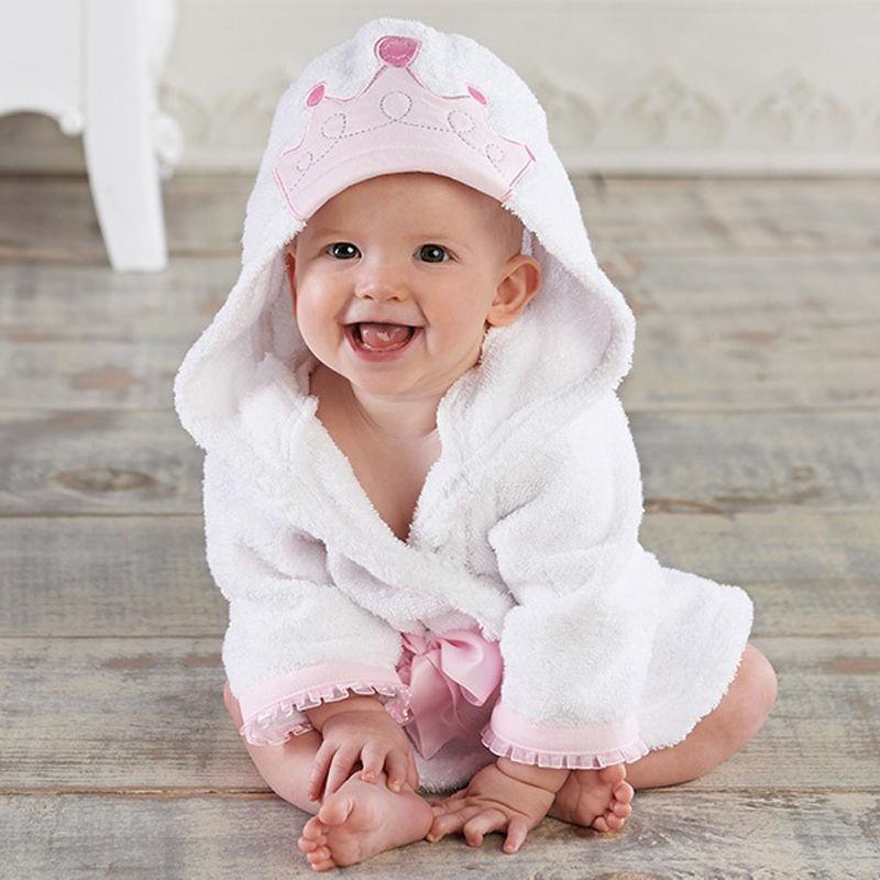 2019 Infant Baby Boy Girl Animal Baby Bathrobe Baby Hooded Bath Towel Toddler Kids Bathing Honey Baby
