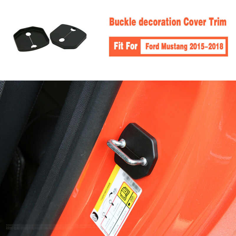 Trim Deurslot Cover Plastic Voor Ford Mustang 2015-2018 Vervanging Car Auto