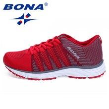 BONA New Women Running Shoes Mesh Knit Trainers Designer Trends Tennis