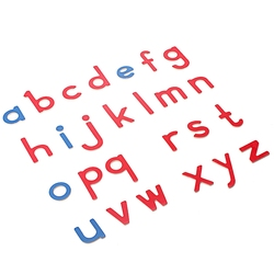 Montessori Wooden 26Pcs Red Blue Alphabets Vowel Consonants English Languages Learning Letters Alphabets Plywood Educational Toy