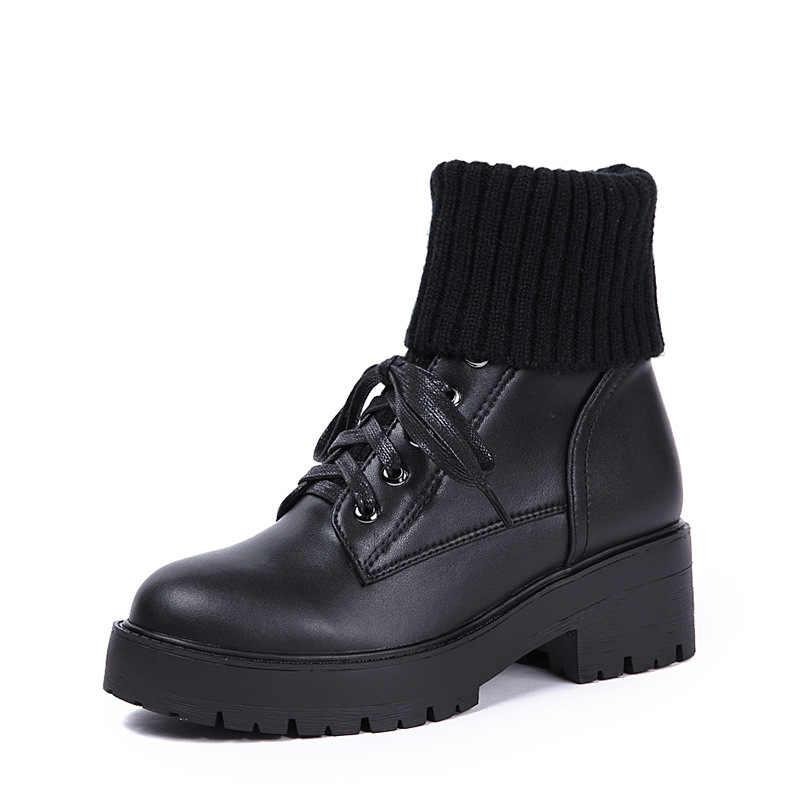 En kaliteli hakiki koyun derisi deri kadın kar botları moda su geçirmez kışlık botlar 100% doğal kürk sıcak yün kadın botları