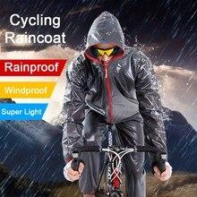 цена Waterproof Cycling Raincoat Bicycle Rain Jacket Raincoat Outdoor Sport Windproof Rainwear Cycle Clothing MTB Bike Equipment New онлайн в 2017 году