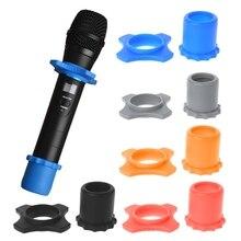 1 Набор силиконовых Противоскользящих роликовых колец рукав с дном комплект для ручного микрофона