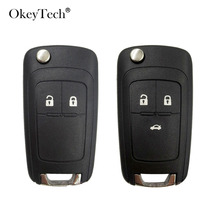 Flip key Folding Remote 2 3 Button Car Key Fob Shell Case For opel Chevrolet Vauxhall astra h j insignia g vectra c mokka zafira
