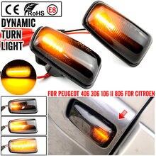 LEEPEE dla Peugeot 306 106 406 806 Expert Partner para lampka sygnalizacyjna LED samochód dynamiczny boczny znacznik włączony kierunkowskaz migacz światło