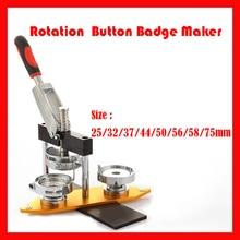 Машина для изготовления значков с вращающейся кнопкой DIY, машина для изготовления значков с пресс-формой 25 мм/32 мм/37 мм/44 мм/50 мм/56 мм/58 мм/75 мм
