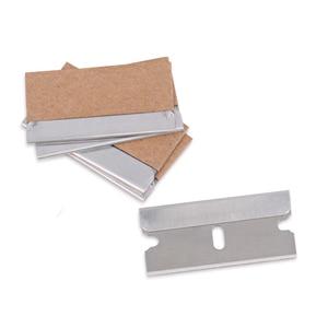 Image 5 - EHDIS jilet kazıyıcı ile 100 adet karbon çelik bıçaklar pencere camı çıkartma tutkal sökücü vinil araba streç Film tonu temiz araçları