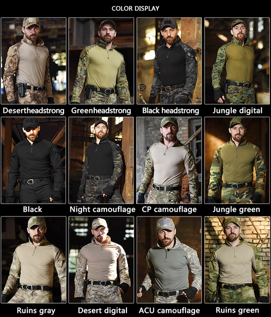 Tactical Suit Military Uniform Suits Camouflage Hunting Shirts Pants Airsoft Paintball Clothes Sets with 4 Pads&Plus 8XL 5